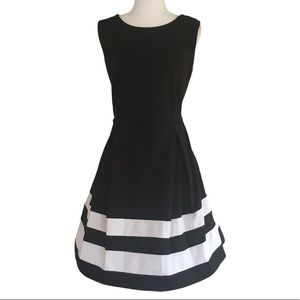 GNW Fit And Flare Black And White Dress